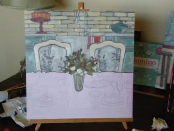 kmb painting in progress