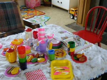 tea party set up