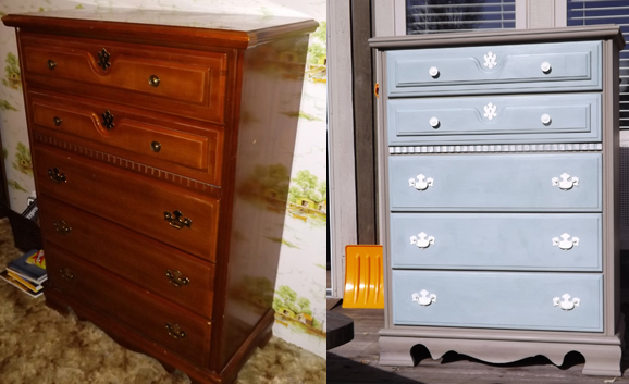 chalk paint furniture before and afterannie sloan chalk paint before  after dresser  pie safe  the