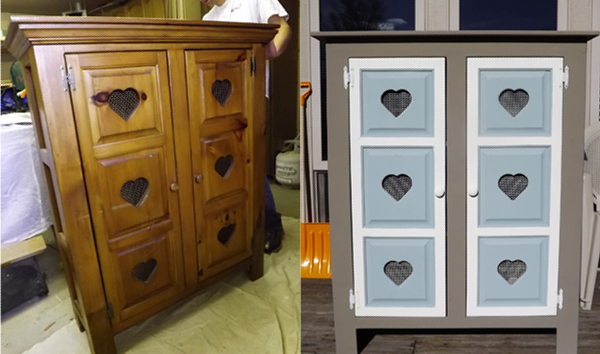 Annie sloan chalk paint before after dresser pie safe - Pintura ala tiza leroy merlin colores ...