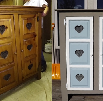 Annie Sloan Chalk Paint Before After Dresser Pie Safe