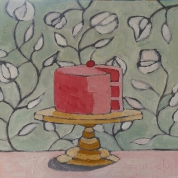 cherries + cream, 10x10, $145